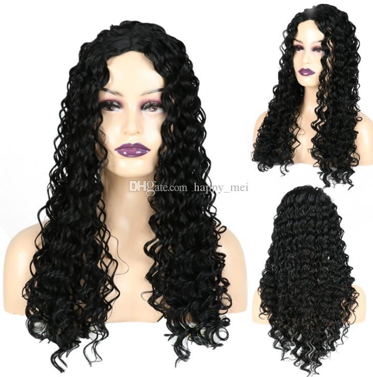Человеческие парики волос фронта шнурка бразильский малазийский индийский завитые полный парик шнурка Remy девственницы шнурка волос фронт парики для чернокожих женщин