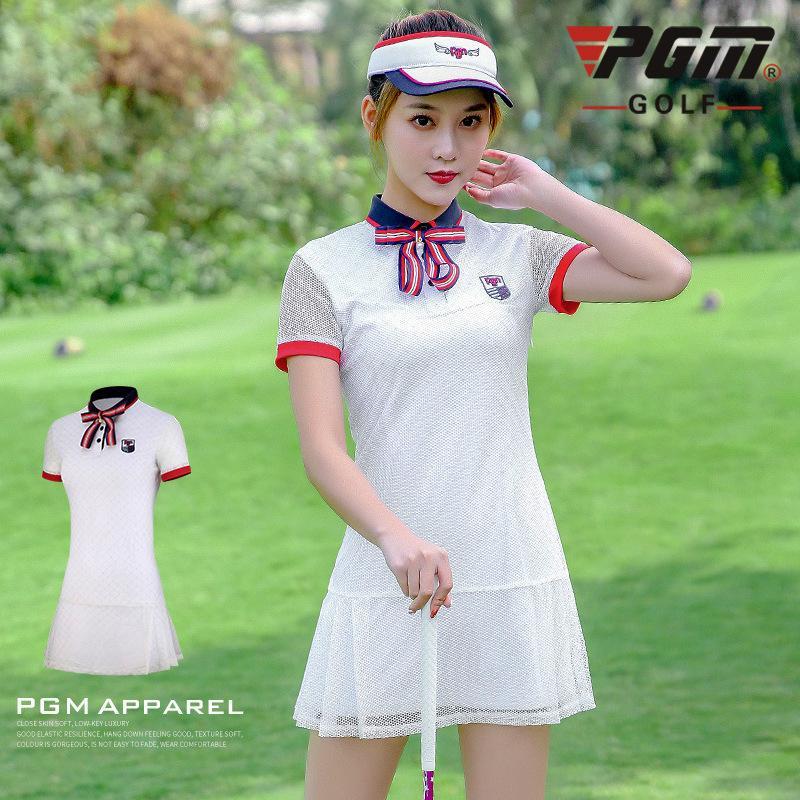 PGM été Golf robe à manches courtes femmes Mesh respirant Golf Robes dames rapide sport sec D0738