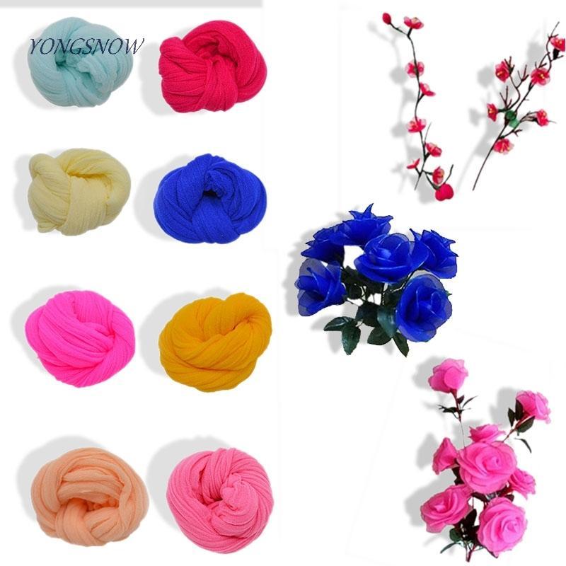 5 stücke Multicolor Zug Nylon Strumpf DIY Blumen Machen Material Handgemachte Handwerk Zubehör Hochzeit Home DIY Nylon Blume C18112601
