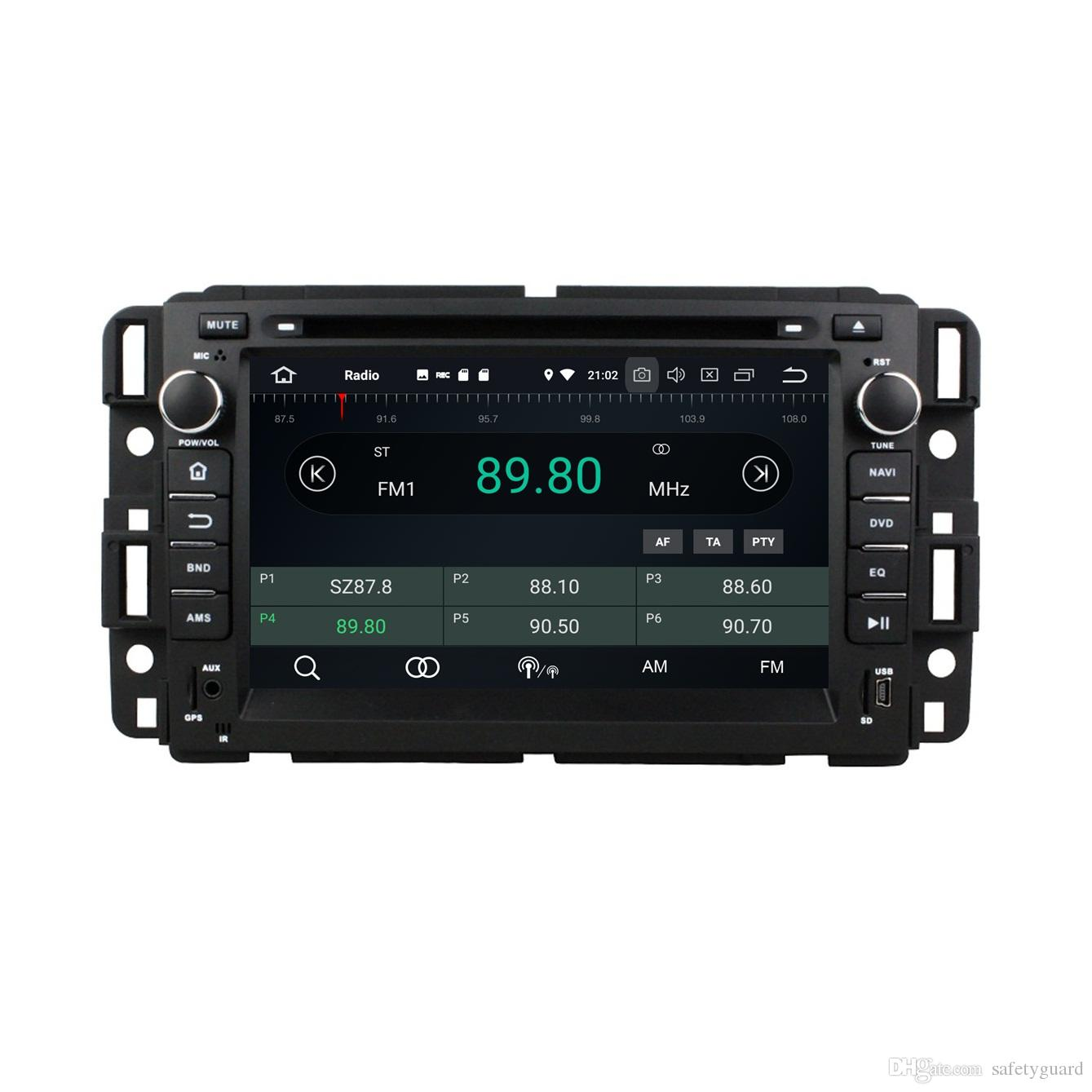 "4GB+64GB Android 8.0 Octa Core 7"" Car DVD Player for GMC Yukon Tahoe 2007 2008 2009 2010 2011 2012 RDS Radio Bluetooth WIFI USB Mirror-link"