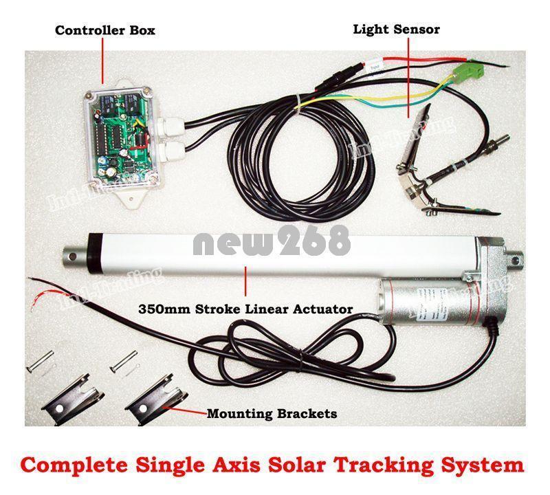Complet Double Axe électronique Sun Track solar tracker Actionneur Linéaire Contrôleur