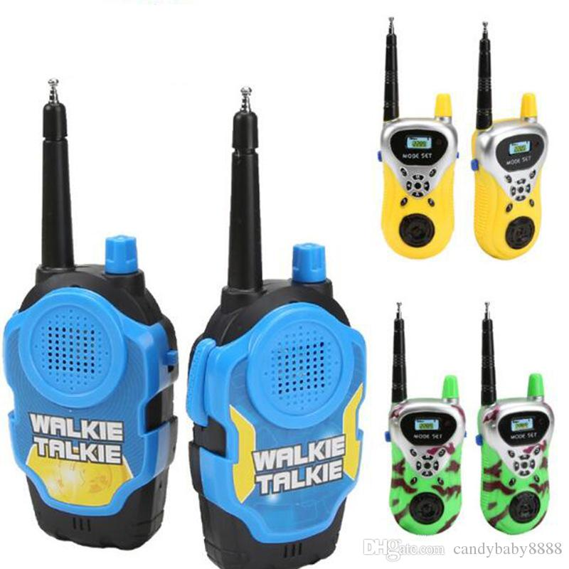 أطفال لعبة walkie talkies اللباس اللعب بنين بنات المستخدمة في حديقة المنزل وخارج هدايا عيد الميلاد للأطفال C1690