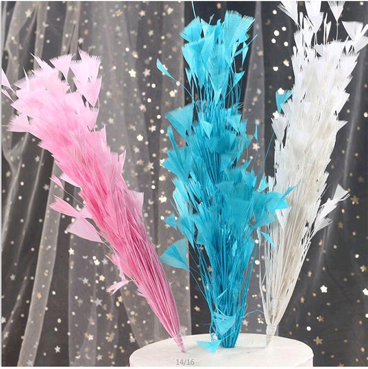 Caliente pluma de Turquía del multicolor ramilletes de flores de la boda Las plumas de artesanía fiesta del feliz cumpleaños para matrimonio Suministros bricolaje Accesorios de plumas