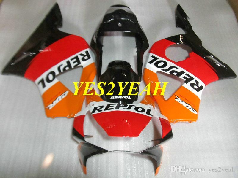 Motorcycle Fairing body kit for Honda CBR900RR 954 02 03 CBR 900RR CBR900 RR 2002 2003 Red orange REPSOL Fairings bodywork+Gifts HC50