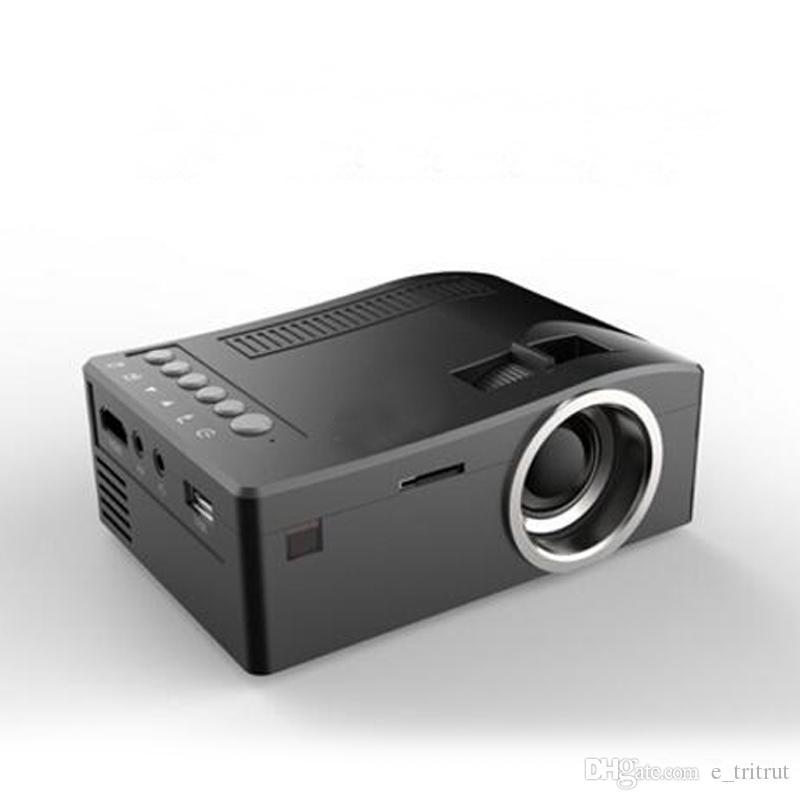 UNIC UC18 미니 LED UC 18 프로젝터 휴대용 포켓 프로젝터 멀티 미디어 플레이어 홈 시어터 게임 지원 USB TF Beamer 1pcs 지원