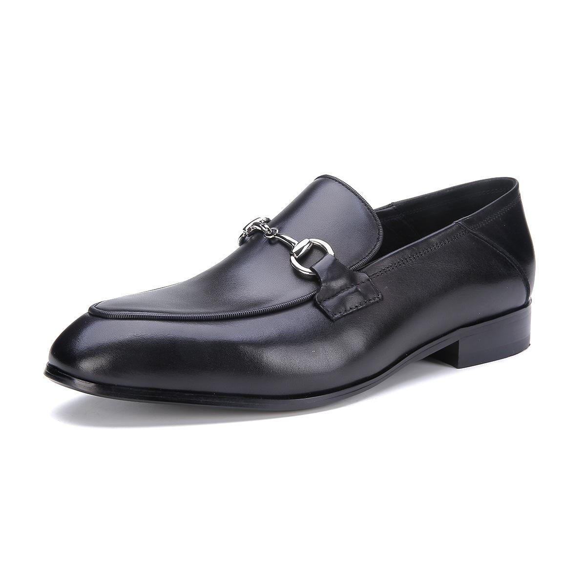 Sapatos de couro dos homens Oxfords Negócios Formal Wear Couro Calçados Tamanho Grande Pele de vaca Calçados masculinos confortáveis