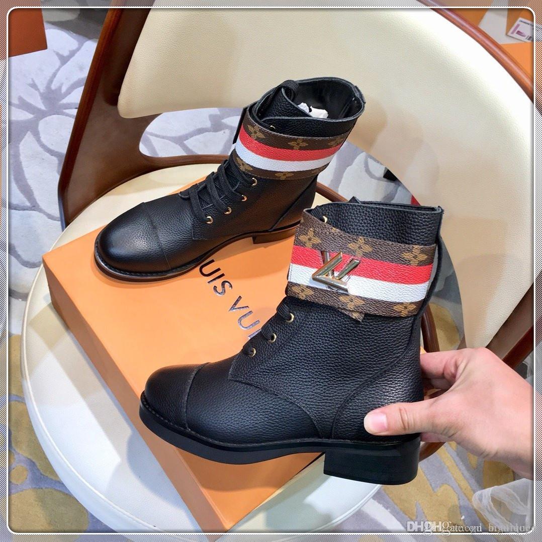 2020 Новой мода ботинки женщин упрется женщины Загрузочного люкса обуви шипованных Шипов сапоги зима Бесплатной обувь