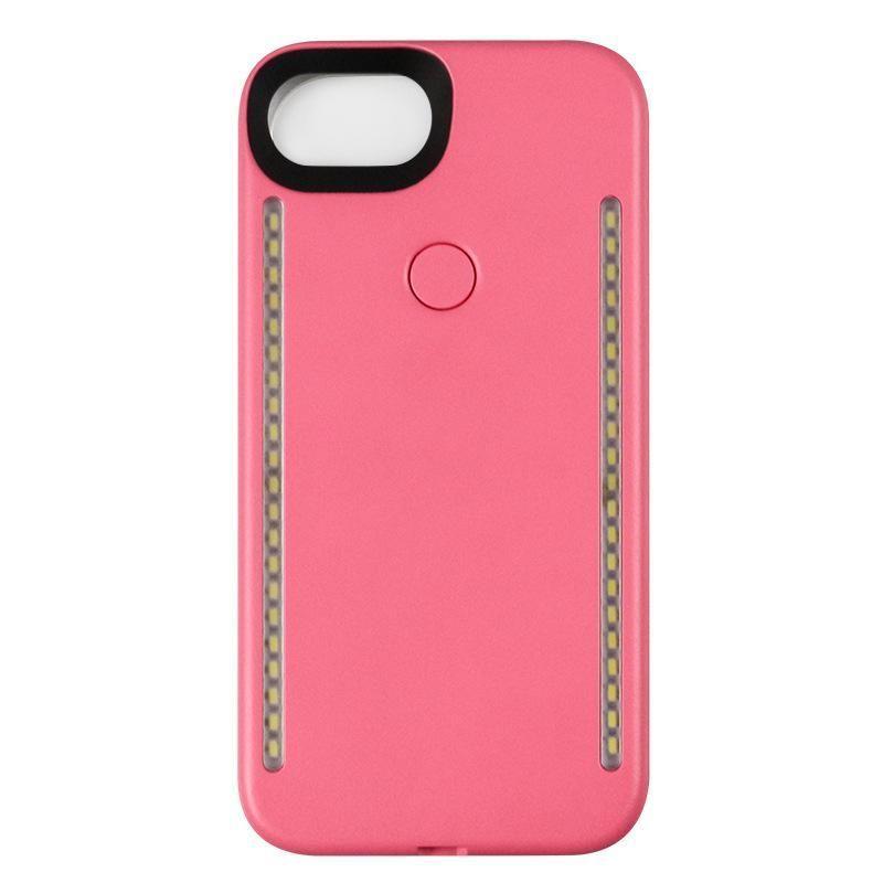 Светодиодный свет телефон Случаи телефона двойные стороны свет корпус батареи крышка для Iphone 7plus 6plus 6splus с розничной коробкой