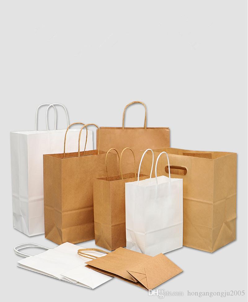 حقائب براون ورقة مع مقابض السائبة حقائب هدية، وسائد حفل زفاف حقيبة حقيبة التسوق، وسائد كرافت، حقيبة التجزئة 95٪ بعد الاستهلاك المواد FSC