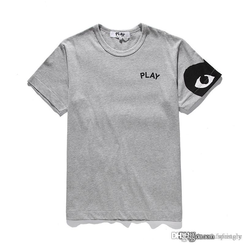 COM оптовые продажи Новое лучшее качество Серый CDG Новая футболка HOLIDAY PLAY 1 Черный Красный Полосатый Горошек