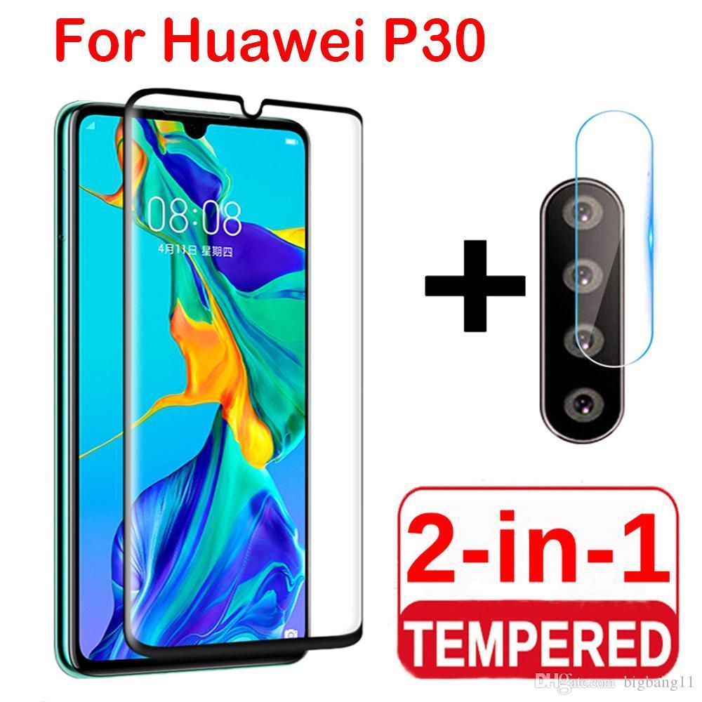 2 в 1 протектор экрана полное защитное стекло для Huawei P30 lite Pro задняя камера объектив пленка закаленное стекло на Huawei P30 Lite