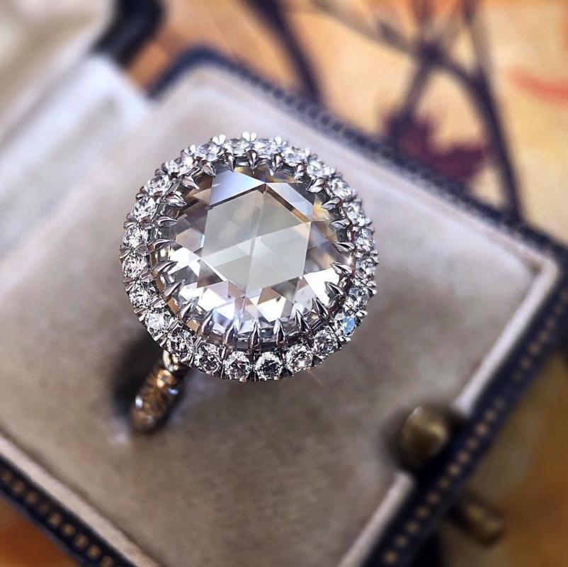 Новое изысканный S925 серебро круглой геометрических украшений дамы помолвка свадьба Валентина подарок кольцо Дня