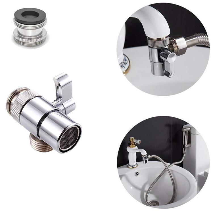 1PCS 분배기 주방 싱크 밸브 욕실 어댑터 홈 황동 수도꼭지 분배기 싱크 밸브 물 탭 수도꼭지 밸브 분배기