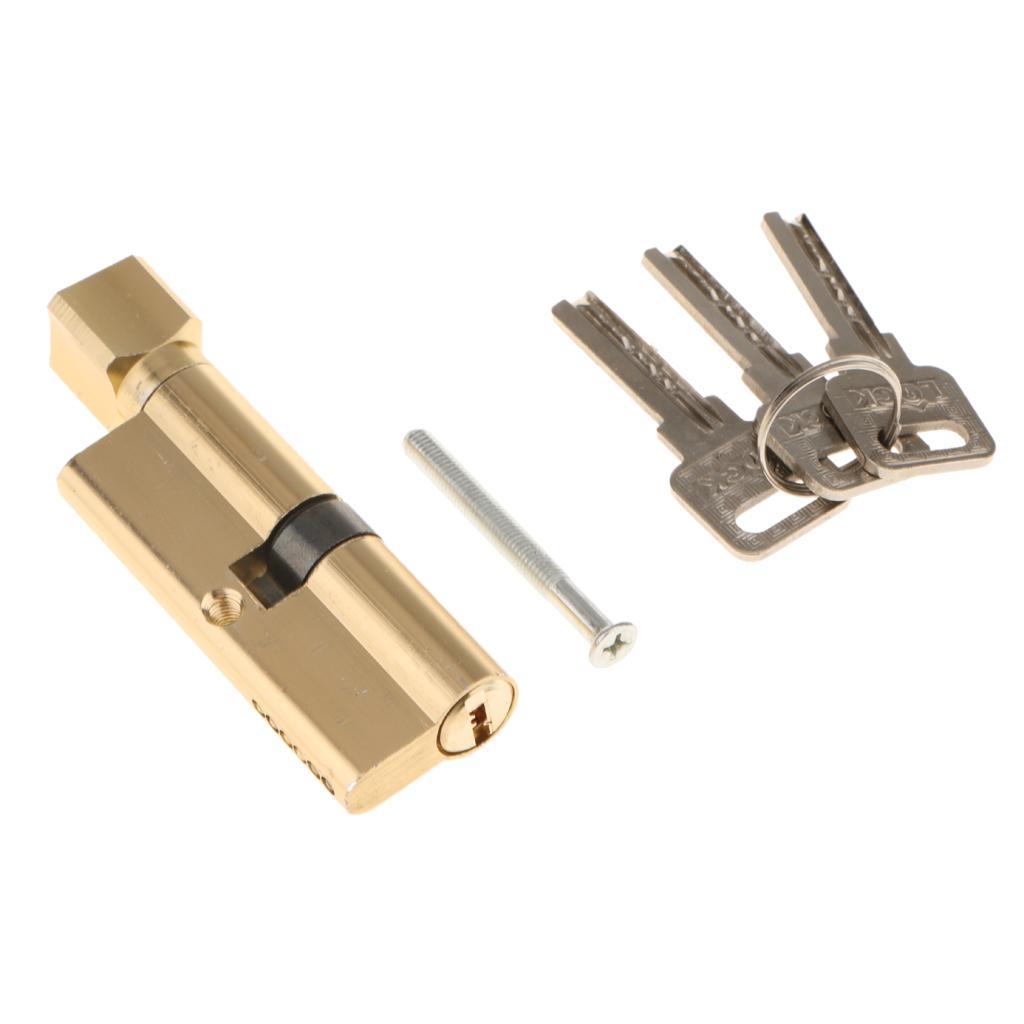 """Главная 3.54 """" длина 15 мм Диаметр цинкового сплава противоугонная безопасность дверной замок сердечник с 3 ключами"""