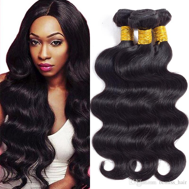 8A Unprocessed Brazilian Body Wave Human Hair Bundles Cambodian Mongolian Indian Peruvian Malaysain Virgin Hair Extensions Wholesale Price