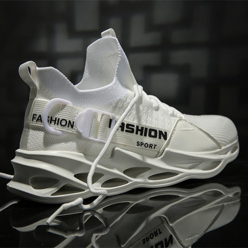 Acoplamiento del aire de los hombres zapatillas de deporte de 2020 nuevos zapatos de la hoja Sole moda zapatos para caminar hebilla transpirable zapatillas de deporte de los deportes de verano ligeros