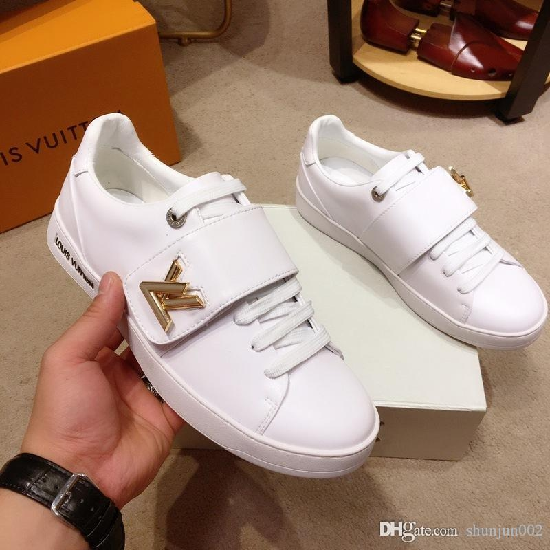 19ss Piattaforma bianco classiche scarpe casual casual Scarpe Sport Skateboard delle donne degli uomini delle scarpe da tennis velluto Heelback Scarpa Sport Tennis