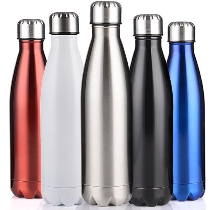 350ml الكولا على شكل زجاجة ماء فراغ معزول كأس السفر في الهواء الطلق مزدوجة الجدار الفولاذ المقاوم للصدأ شكل فحم الكوك شرب قارورة محمولة
