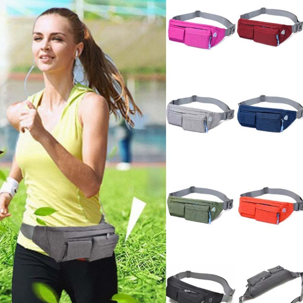 Waterproof Running Belt Bum Waist Pouch Fanny Pack for Camping Hiking Zip Bags