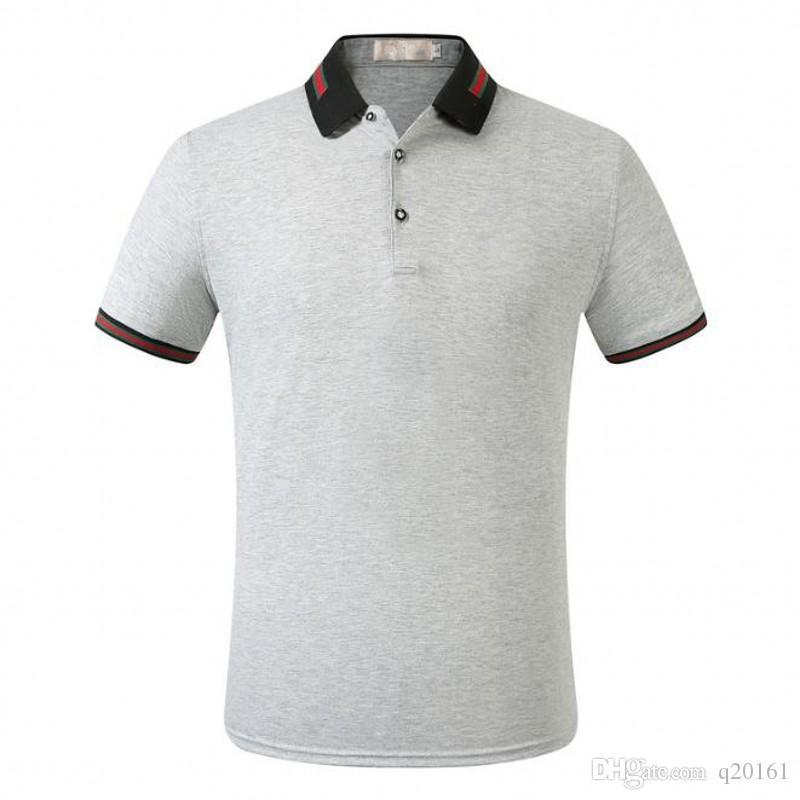 mens designer polo shirt brand letter Print Top t shirts for Italy Fashion polo shirt men High street Cotton tags Tops t shirts