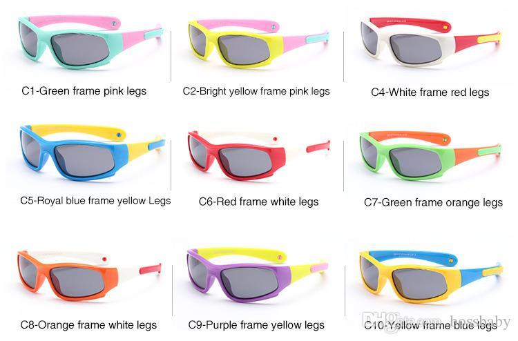a3a8f646e3a2 Kids Riding Sunglasses Anti-drop Slical Leg Full Frame Resin Polarized  Lenses Sports Summer Baby ...