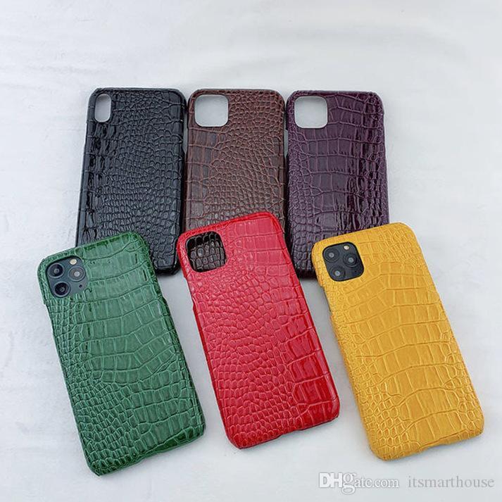 Motif Crocodile brillant cas de téléphone portable pour iPhone 11 XR XS Accessoires 6 Couleurs Fitted protecteur dur cas