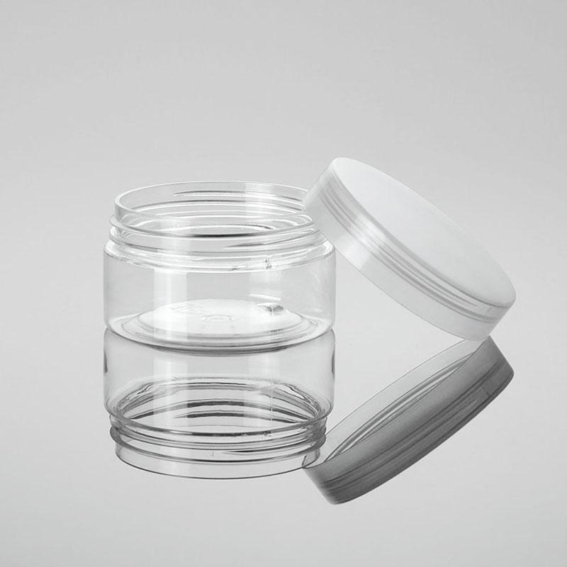 100g Clear Plastic Cream Jar 3.5oz Empty Cosmetic Container Facial Mask Eye Cream Sample Packing Pot
