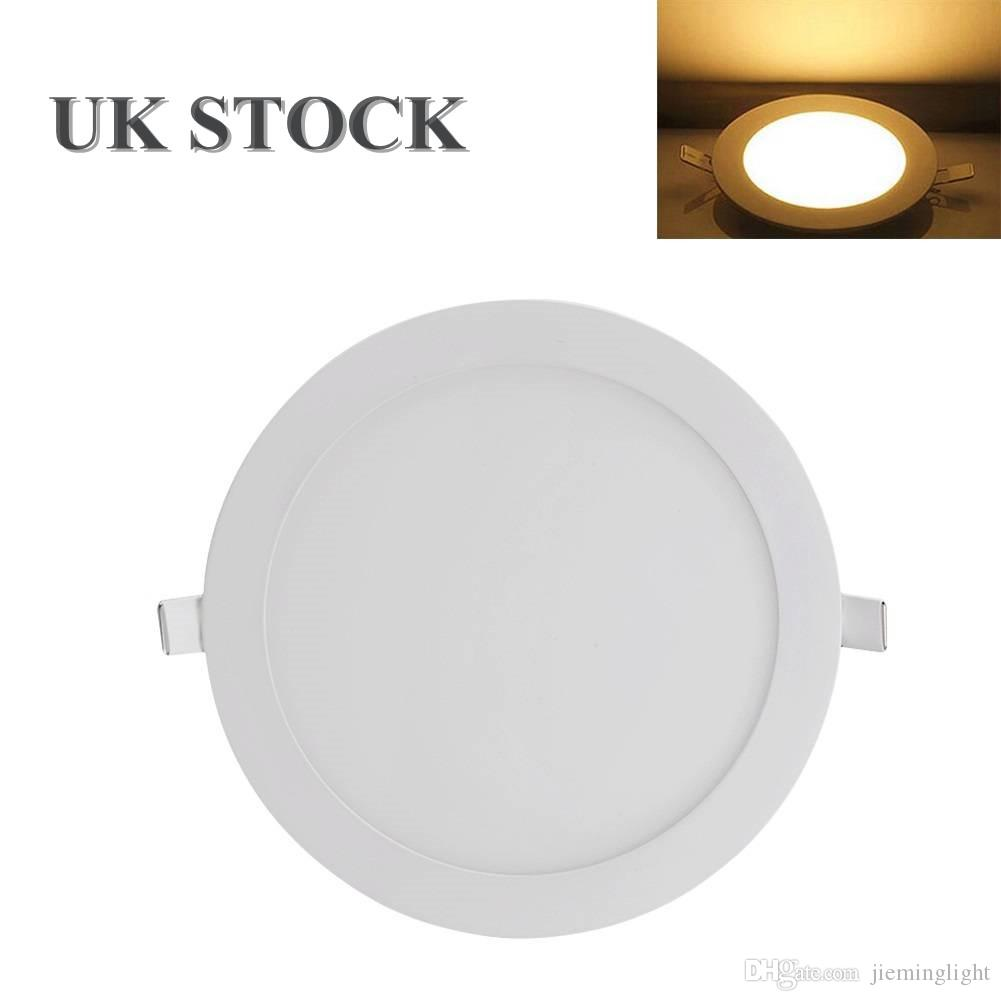 Uk Stock Ultra Slim Round Led Ceiling Light Panel Flush Mount Downlights 18w Fixture Warm White For Kitchen Living Room Home Use Down Light Downlights Led From Jieminglight 12 88 Dhgate Com