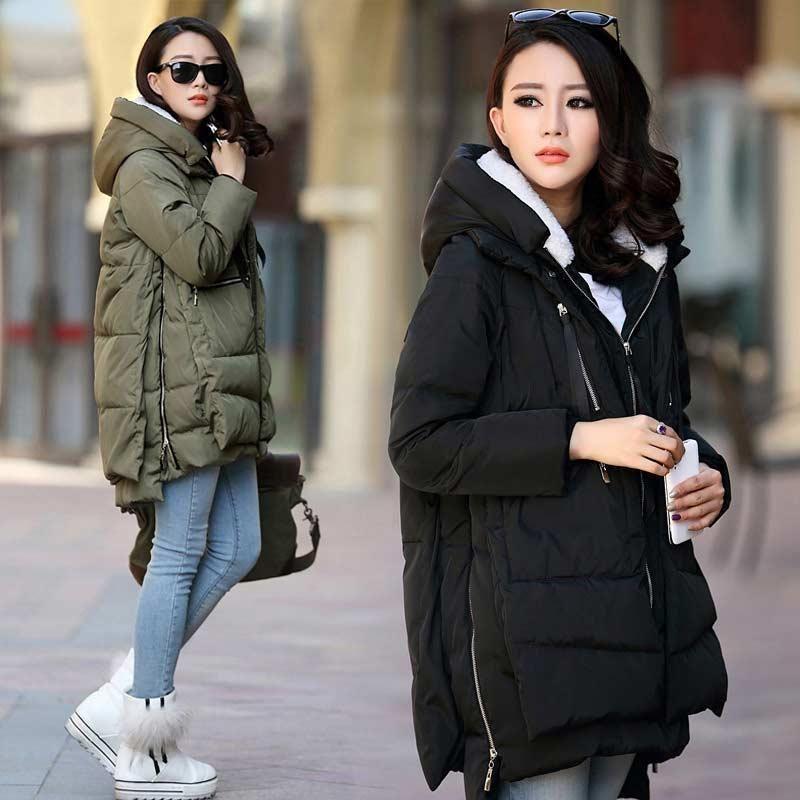 Down Jacket Women Parkas 2019 Zipper Female Coats Solid Long Women Winter Clothes Pockets Polyester Parkas