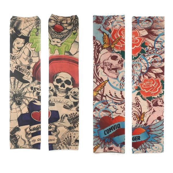 Tatuaje de la pierna del brazo mangas de Protección Solar fiesta de Halloween Ciclismo - 11