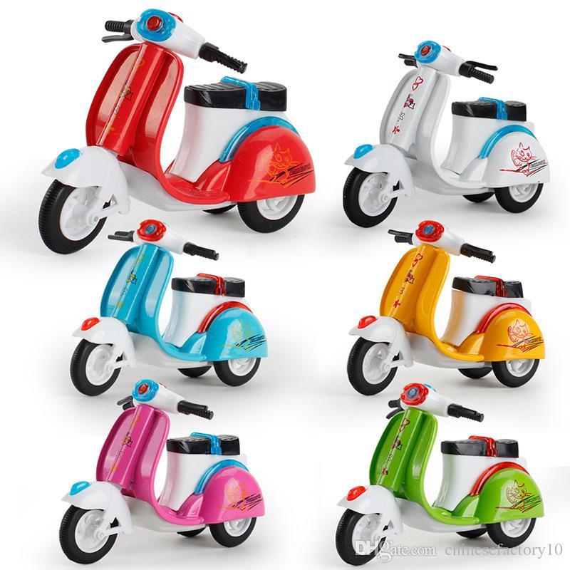 سبيكة لعبة سيارة للأطفال سحب للدراجات النارية نموذج الثلاثيه الخبز الديكور كعكة الديكور لعب السيارات الكرتون