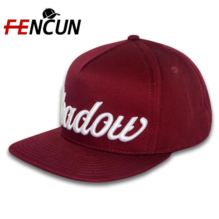Manufacturer Wholesale Fashion Top Design 5 Panel Snapback Caps Custom-made Embroidery And Label Flat Brim Snapback Cap Hat For Adult