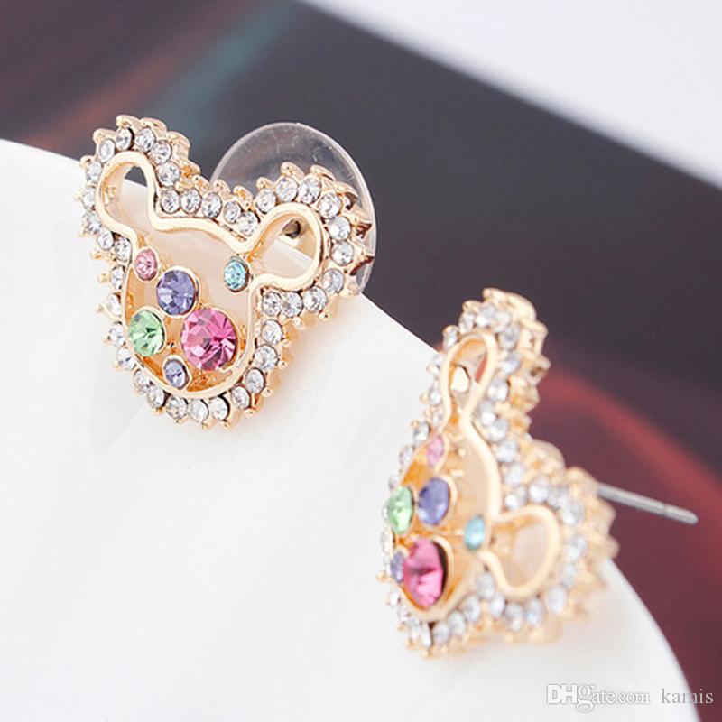 Moda Animal Designer Brincos Feitos com Swarovski Elements Cristal Para As Mulheres Festa de Casamento Jóias Acessórios Melhor Presente de Bijoux