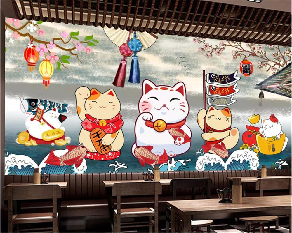 Custom Size Retro Japanese Style Sushi Restaurant Restaurant