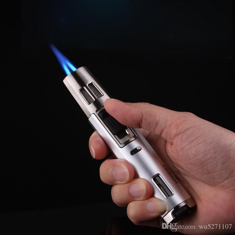 Ottimizzata in metallo leggero da cucina a gas butano Turbo Accendini Smoking accessori del sigaro sigarette accendino Gadget per gli uomini