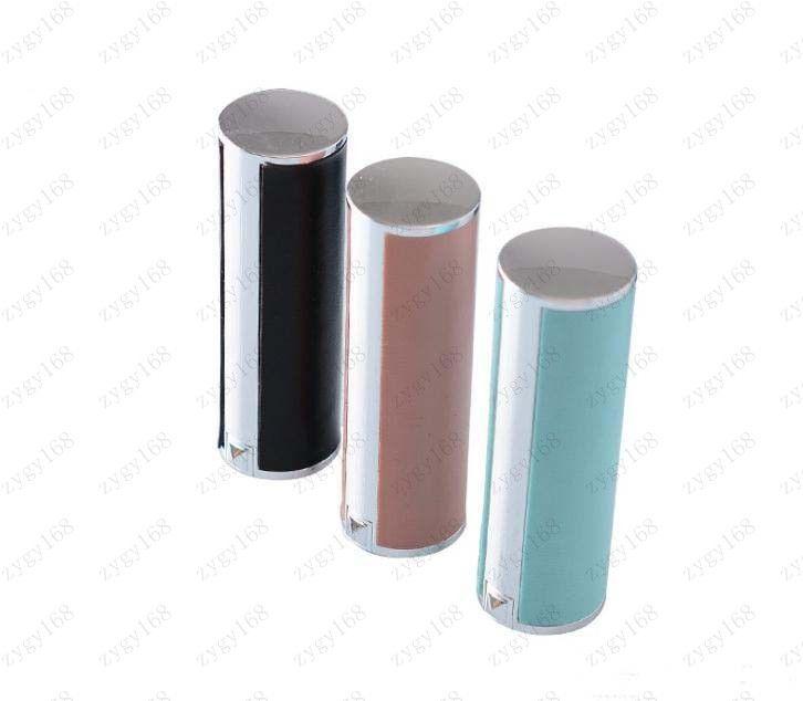 12.1mm negro / color de rosa redonda de plástico vacía en forma de barra de labios (tipo piel de cordero), Crema de cacao tubo vacío del envío de la alta calidad plástica de labios gratuito
