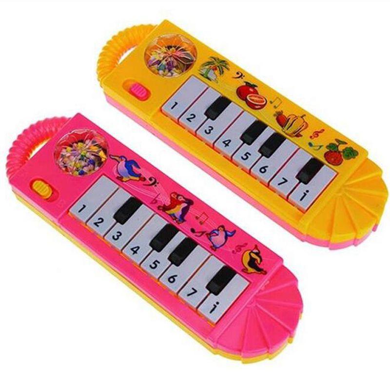 Çıngıraklar El Çan Bebek Yenidoğan Okul Öncesi Yenilik Plastik Bebek Çocuk Elektrikli Piyano Müzik Aletleri Gag Oyuncaklar Eğitici Oyuncak