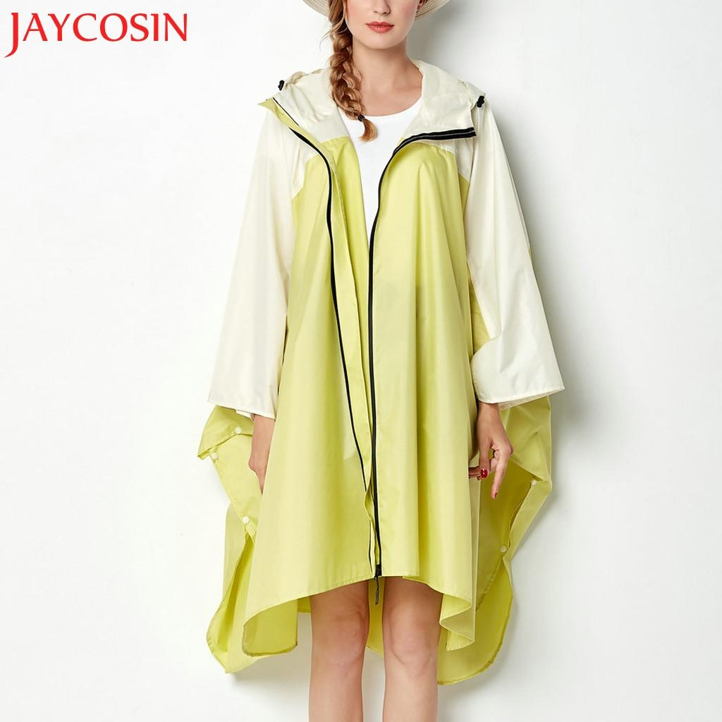 KLV Females Ladies Women's Splice Rain Jacket Outdoor Hoodie Waterproof Windproof Coat Outwear Dropship Dec.1