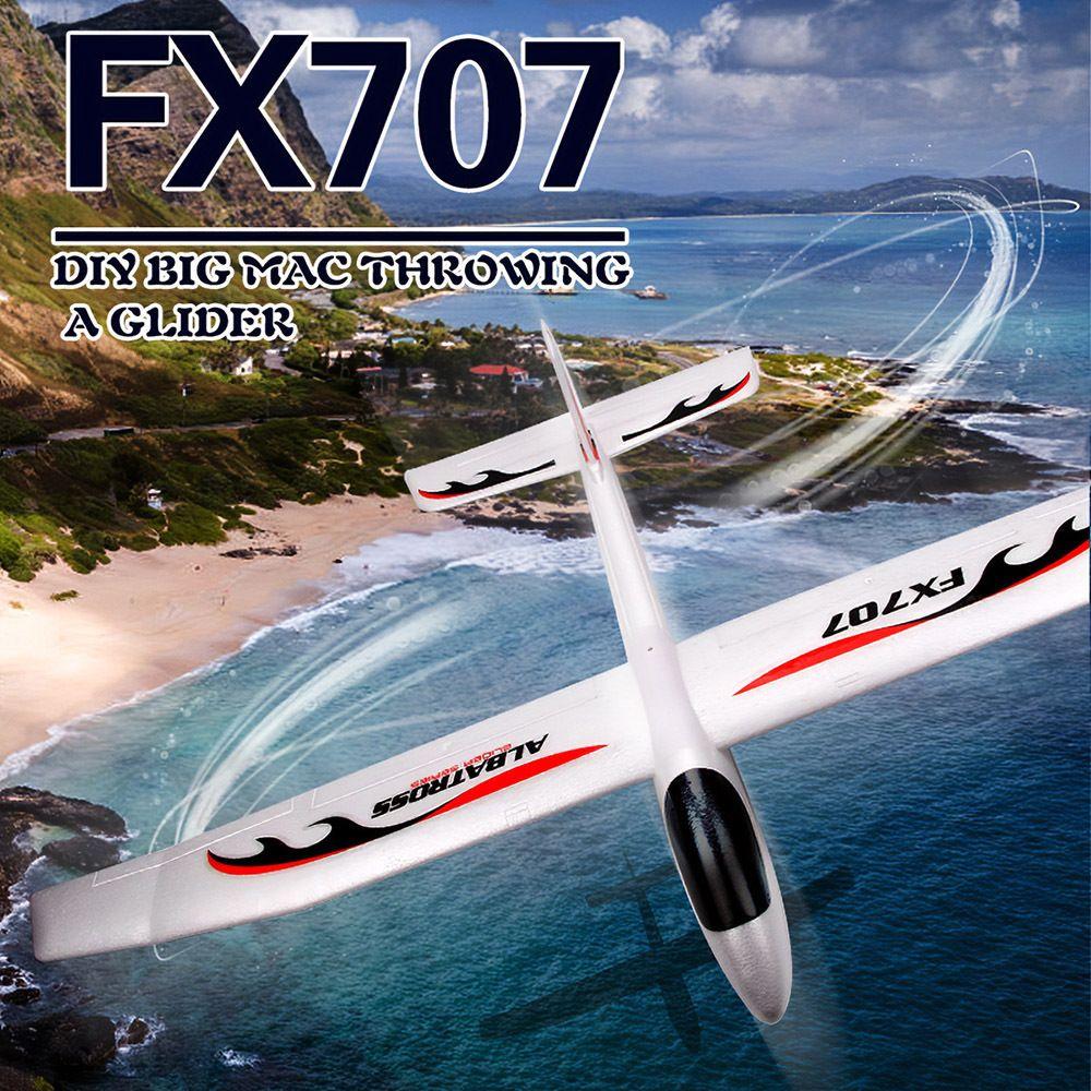 1200mm Wingspan El Lansiyon Çocuklar için Planör Düzlemi RC Uçak Yumuşak Köpük Uçak Modeli DIY Eğitici Oyuncaklar FX707S Y200413