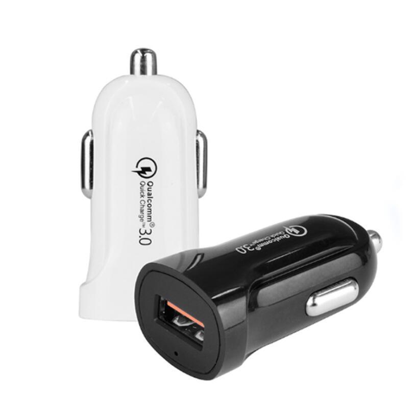 QC3.0 Mini USB Chargeur voiture pour téléphone portable Tablet GPS 3.1A 1A rapide Chargeur voiture Chargeur pour téléphone intelligent