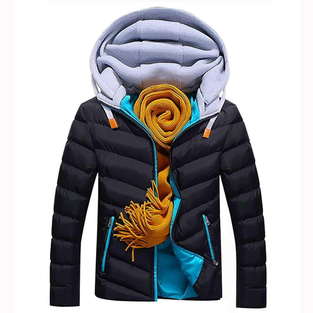JAYCOSIN 2019 inverno Parker caldo di spessore cappotto giacca di cotone giovani cappotto del ragazzo a vento di trincea degli uomini moda maschile trapuntato