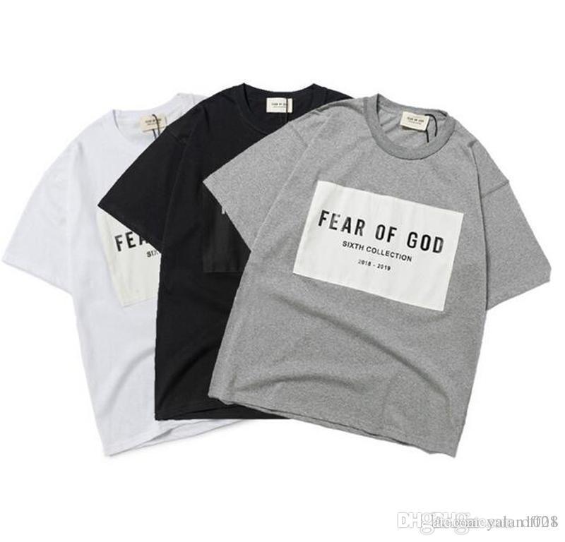 2020 New Arrival FEAR OF GOD Essentials Men Women Designer Sixth Collection T Shirts Summer Casual Mens Cotton Short Sleeve Street FOG