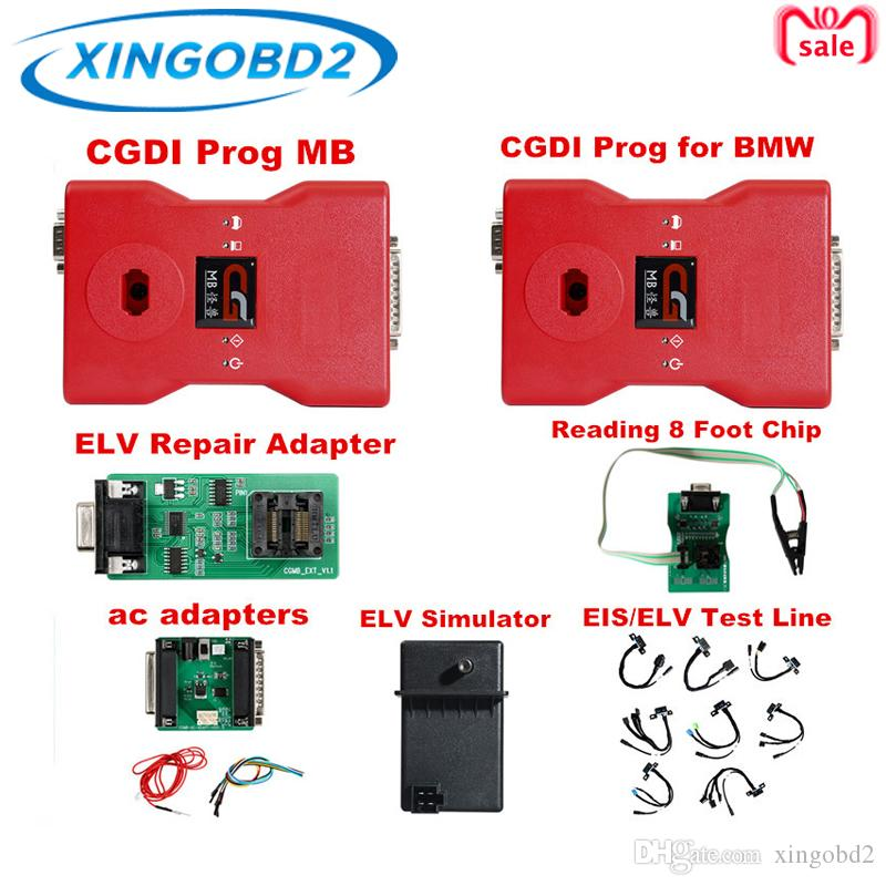CGDI Prog for BMW MSV80 and CGDI Prog MB for Benz Auto Key Programmer Full set with all adapters