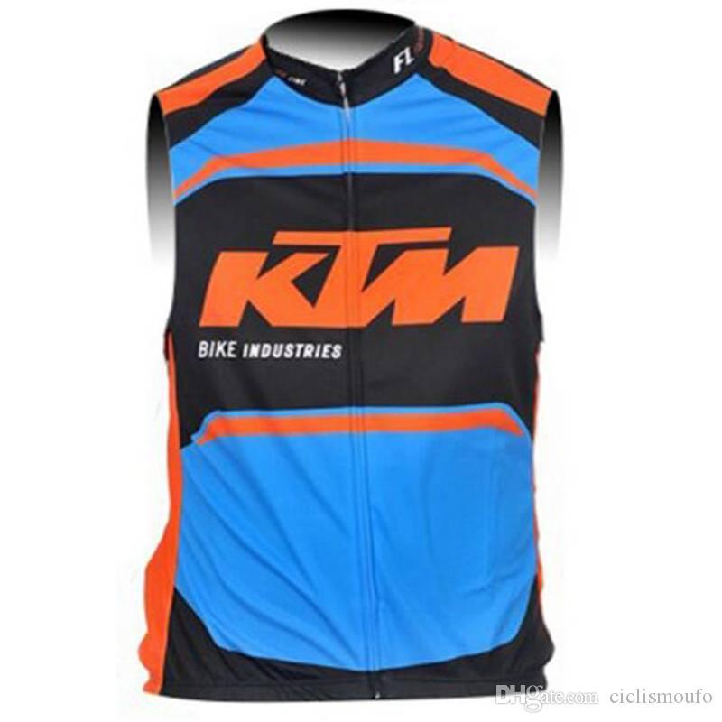 KTM team Cycling Sleeveless jersey Vest men Summer Style Breathable Bike Clothing Bicycle sleeveless vest 52917