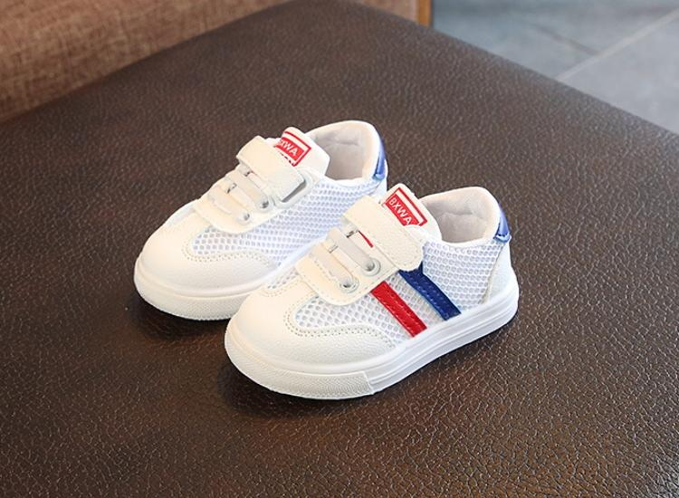 Children Kids Shoes Boys breathable Sport summer Soft Bottom for girls Baby Sneaker Casual Flat Sneakers Mesh black white pink T200604