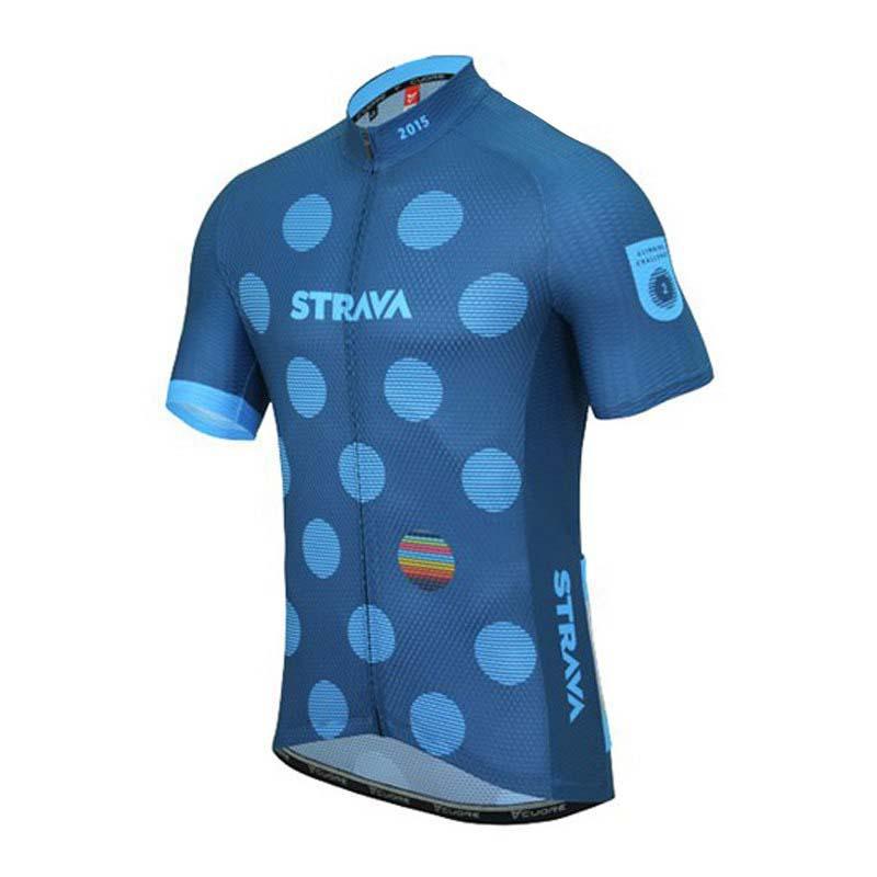 Strava UOMINI Cycling Jersey bici Abbigliamento Maglie Ciclismo Squadra vestiti Top Bicicletta da corsa