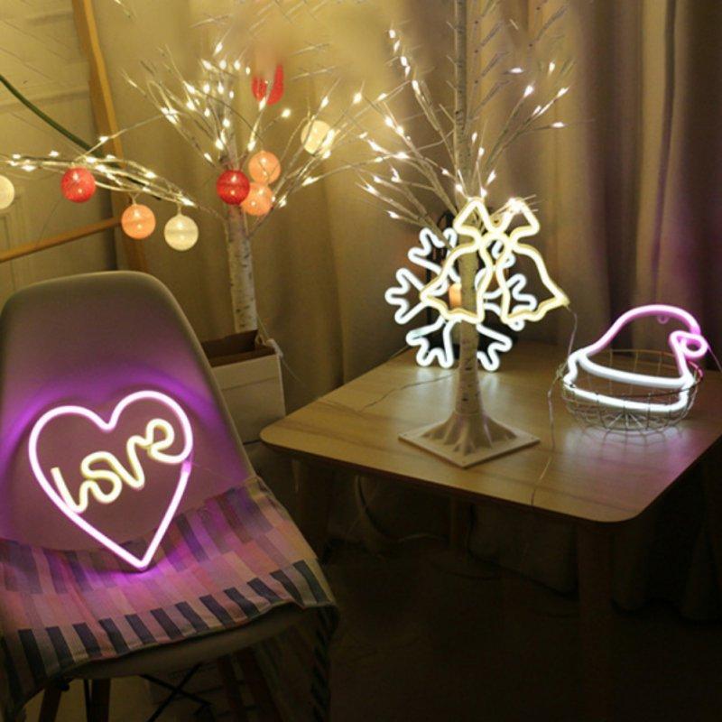 Décoration de Noël Lumières Chambre Neon Neon Signs Salon Salle Night Lights Décoration Lampe de table Partie à la maison Décor Fournitures Hot