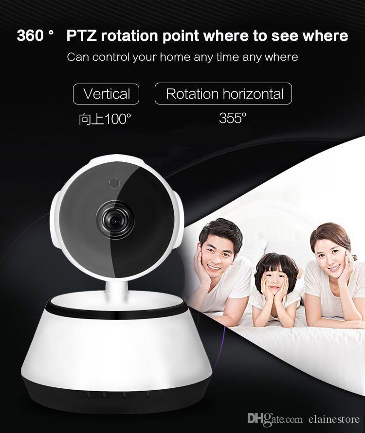 كاميرا Wifi IP 360 degree PTZ roatation Video Surveillance 720P Night Vision 2 way audio home monitor baby monitors