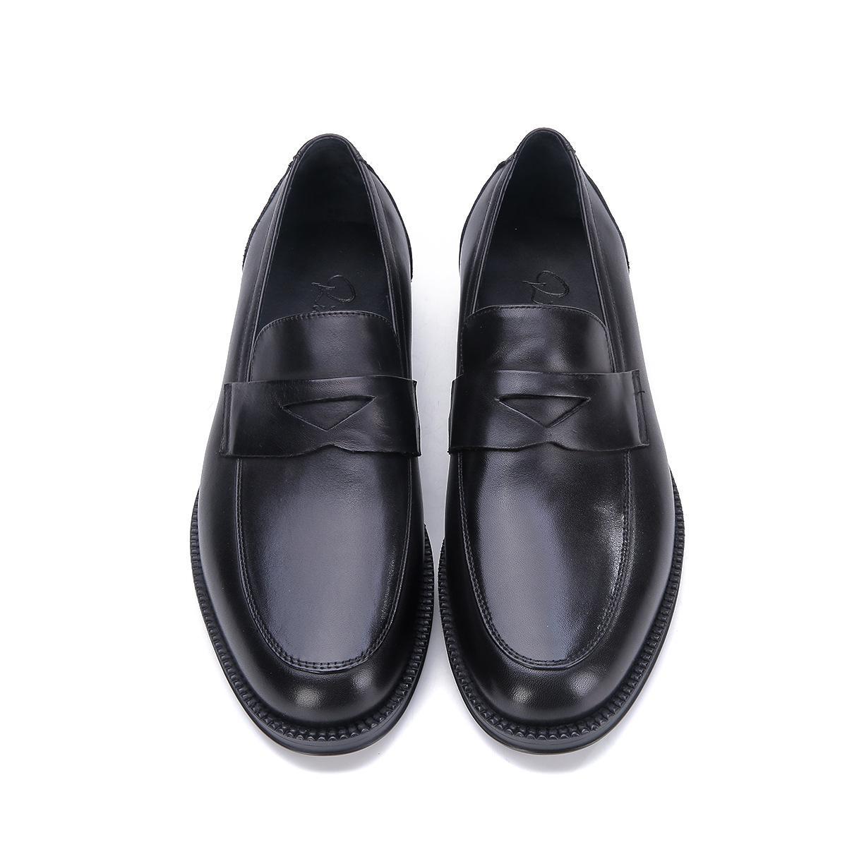 Мужская Обувь Оксфорды Из Натуральной Кожи Квадратная Голова Удобные Мягкое Дно Свободного Покроя Мужские Кожаные Ботинки