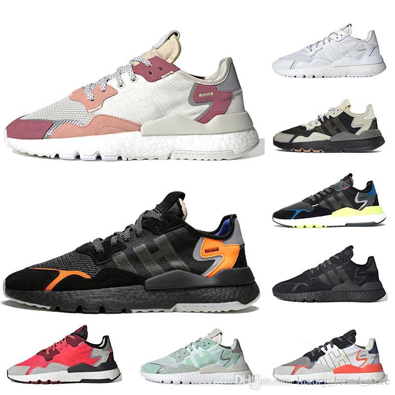Adidas Nite jogger statica scarpe 3M Reflective WMNS scarpe da corsa Bianco Trace Rosa Triple s Nero Arancione Ice Mint formatori Sneakers